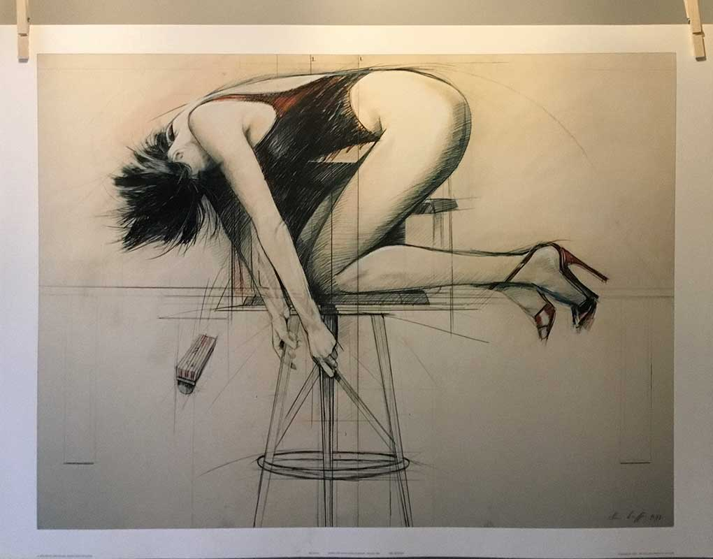 Steven Scheffer - Girl on stool