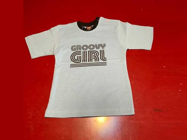 Baby t-shirt Groovy girl lichtblauw