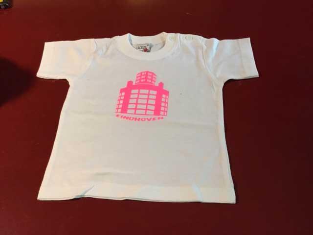 Baby t-shirt Lichttoren roze op wit