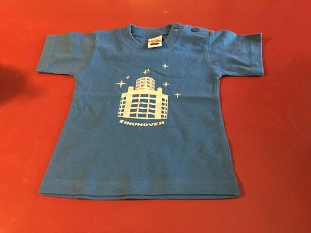Baby t-shirt Lichttoren zilver op donkerblauw