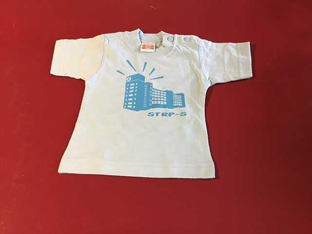Baby t-shirt STRP-S blauw op lichtblauw