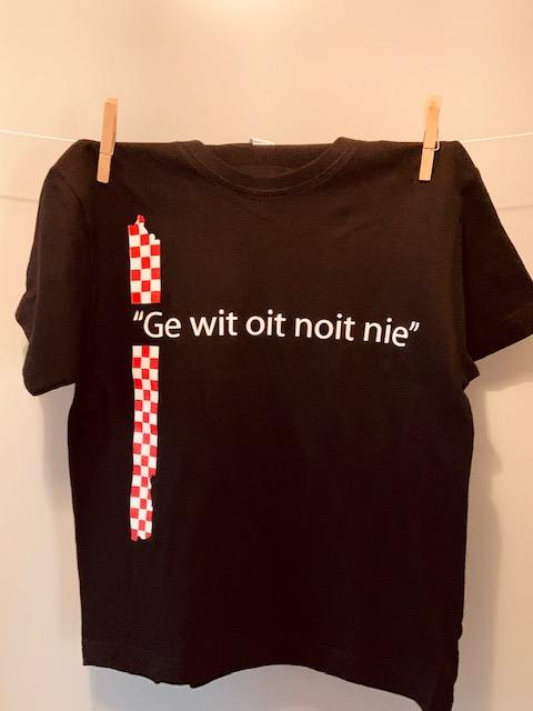 Kinder t-shirt Ge wit oit noit nie