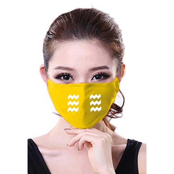 Mondkapje logo Eindhoven geel